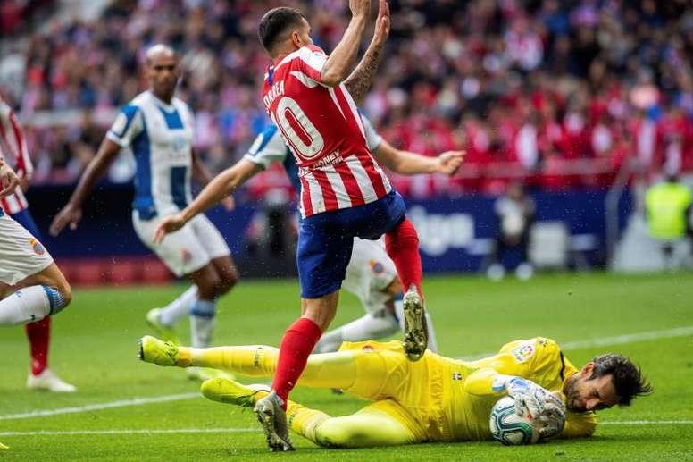 El Espanyol quiere demostrar que no hubo infracción de Diego López. EFE