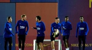 El Barça ya está preparando el duelo ante el Cartagena. EFE