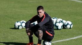 Nicolás Castilla, baja por problemas musculares. EFE