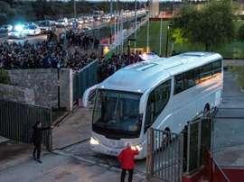 Messi desató la locura en Mallorca. EFE