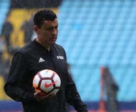Roberto Tobar será el árbitro de la final de la Copa Libertadores. EFE/Raúl Martínez