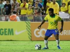 Rodrygo habló sobre su presencia con la Absoluta de Brasil. EFE/Diego Nigro