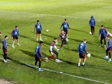 Cuenca causa baja de la Sub 21 por lesión; Montero, su sustituto. EFE/ Javier Lizón