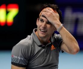 Thiem (en la imagen) logra una de las semifinales y Federer-Djokovic por la otra. EFE/WILL OLIVER