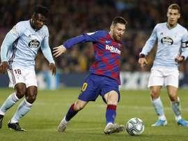 Messi sigue con amarilla. EFE