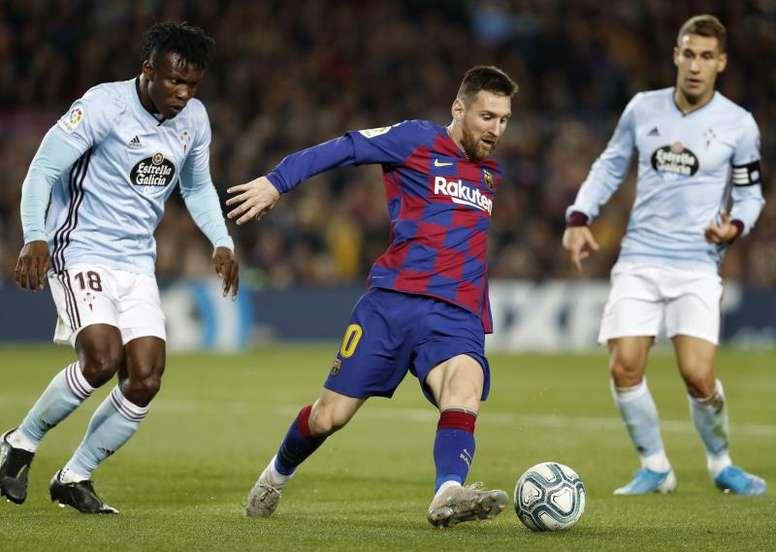 Les compos probables entre le Celta et le FC Barcelone. EFE
