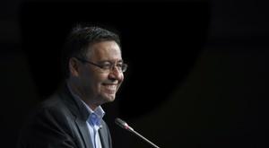 Bartomeu habló del amistoso del Barça. EFE