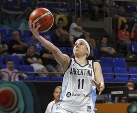 La jugadora argentina Melisa Gretter estará ausente porque se fracturó en agosto pasado el quinto metacarpiano de la mano derecha. EFE/Cristóbal García/Archivo