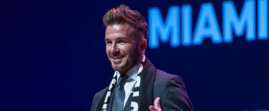 L'attaccante dei 'Red Devils' David Beckham. EFE