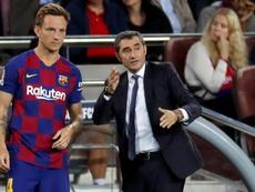 Valverde no quiso responder a las palabras de Rakitic. EFE