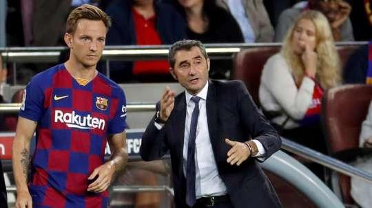 Valverde não tem o que dizer. EFE/Toni Albir