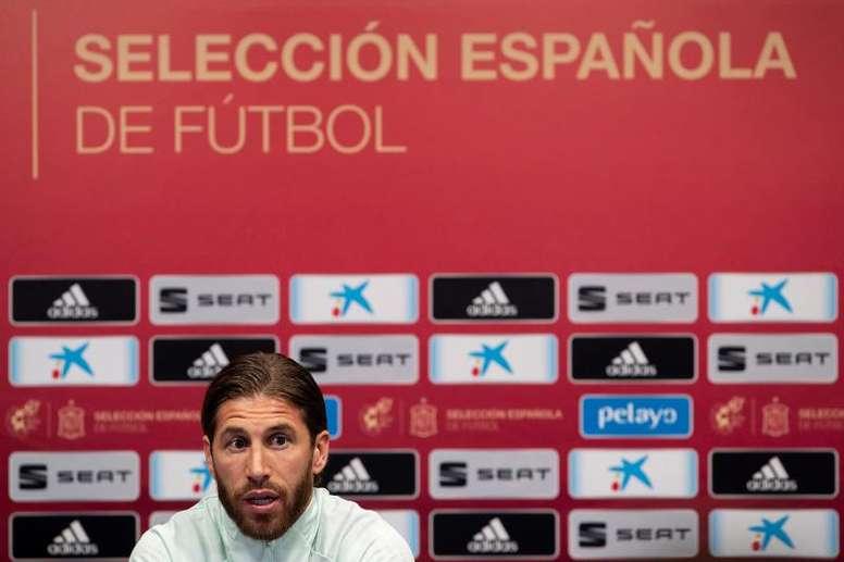 Ramos veut jouer les JO avec l'Espagne. EFE/Román Ríos