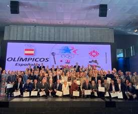 El Comité Olímpico Español (COE) albergó un acto de homenaje para los deportistas olímpicos que compitieron en los Juegos Olímpicos de invierno de Sarajevo y de verano en Los Ángeles 1984- EFE/COE