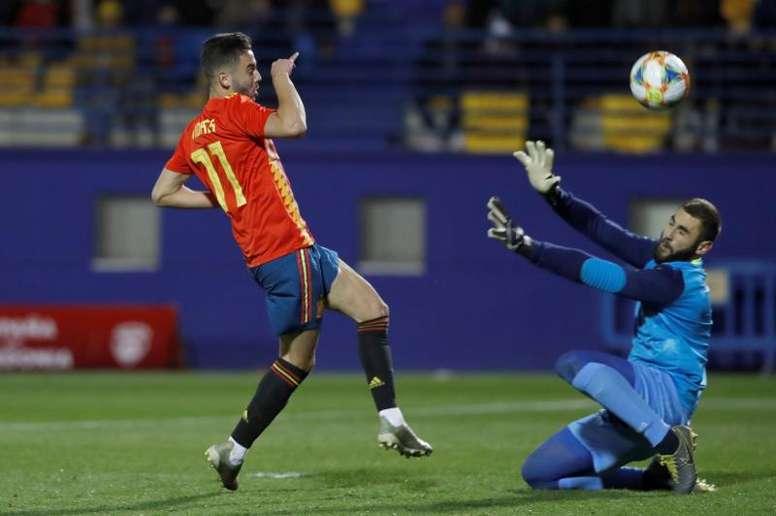 España no tuvo ningún problema para ganar a Macedonia del Norte. EFE