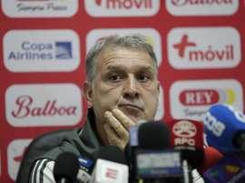 El 'Tata' Martino espera una mayor agresividad de Panamá. EFE