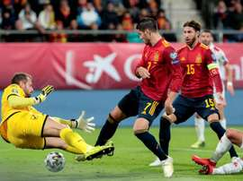 L'attaccante dell'Atletico e della Spagna, Morata. EFE