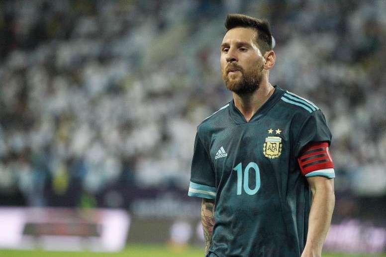 Messi évoque la victoire de l'Argentine contre le Brésil. EFE