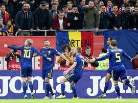 Suecia, la decimosegunda selección clasificada para la Eurocopa. EFE