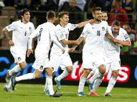 Italia goleó a Bosnia y continuó su pleno. EFE