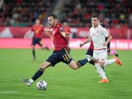 Pablo Sarabia jugó su tercer partido con España. EFE