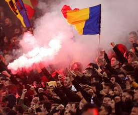 Romania are being investigated for racist chants against Sweden. EFE