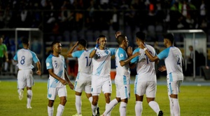 Guatemala se da un festín con vistas al ranking FIFA. EFE/Esteban Biba