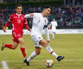 Portugal vence e se classifica para a Euro 2020. EFE/EPA/JULIEN WARNAND