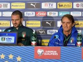 Bonucci puso a Italia por detrás de España, Francia y Alemania. EFE/Mike Palazzotto