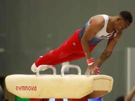 El gimnasta cubano Randy Lerú. EFE/Carlos Durán Araújo/Archivo