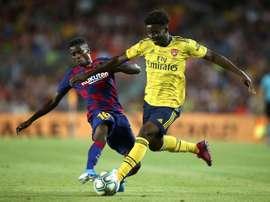 Leicester veut sceller un accord avec le Barça pour Wagué. EFE