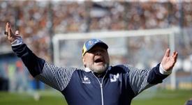 Maradona, una salida inminente y un posible nuevo destino. EFE/ Demian Alday Estévez/Archivo