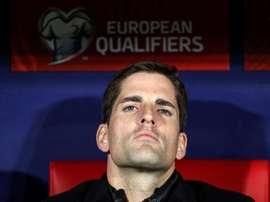 Moreno annule la conférence de presse après la victoire. EFE/Rodrigo Jiménez