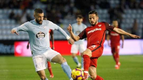 El defensa del Celta, duda contra el Villarreal. EFE