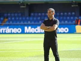 Calleja, destituido tras un partido contra el Celta en la 2018-19. EFE
