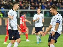 Mancini impulsa a Italia. EFE