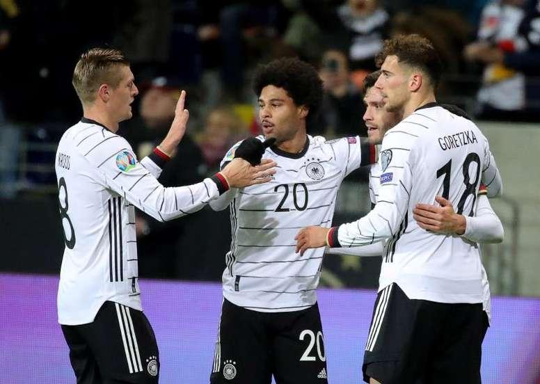 Gnabry volvió a ser uno de los destacados del conjunto alemán. EFE