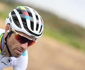 El ciclista español y campeón del mundo, del equipo Movistar, Alejandro Valverde. EFE/ Javier Lizón/Archivo