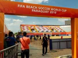 El Mundial de fútbol playa tendrá lugar en Paraguay. EFE