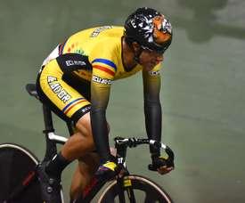 Imagen de archivo de ciclista ecuatoriano Jorge Montenegro. EFE/Ernesto Guzmán Jr/Archivo .