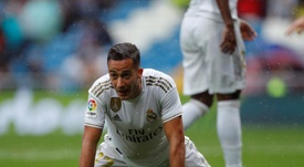 Lucas Vazquez will miss the Eibar clash through injury. EFE/Archivo