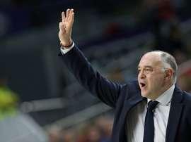 El técnico del Real Madrid Pablo Laso. EFE/Javier Lizón/Archivo