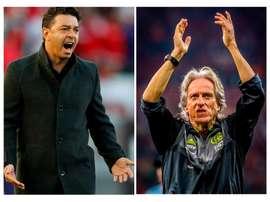 Jorge Jesus vs. Gallardo: las tácticas de posesión, frente a frente. EFE