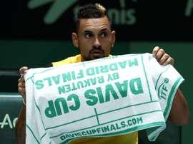 El tenista australiano Nick Kyrgios en la Caja Mágica de Madrid. EFE/Kiko Huesca/Archivo