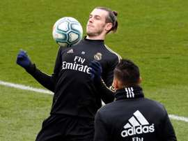 Bale once again trained with the rest of the squad. EFE