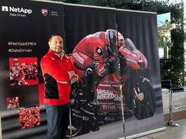 Stefano Rendina, responsable de análisis de datos de Ducati. EFE/Imagen cedida por Ducati