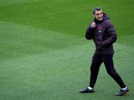 Valverde deixou Todibo de fora dos relacionados. EFE/ Enric Fontcuberta.