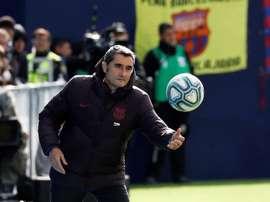 Il tecnico blaugrana Valverde non è un estimatore di Todibo. EFE