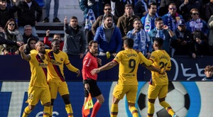 Barcelona have got Leganes in the last 16 of the Copa del Rey final. AFP