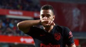 O Atlético publicou a lista de convocados contra a Juve. EFE/Pepe Torres