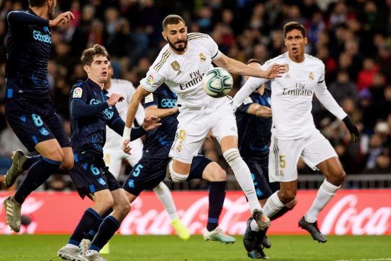 Benzema en sauveur, marque du torse !EFE/Rodrigo Jiménez
